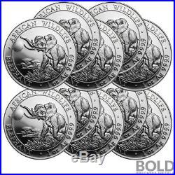 2016 Silver Somalian Elephant 1 oz (10 Coins)