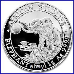 2016 Somalia 1 kilo Silver Elephant SKU #93785
