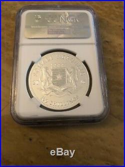 2016 Somalia 1 oz Silver Elephant Coin NGC MS70 ER