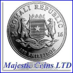 2016 Somalia African Wildlife Elephant 20 x 1 Oz. 9999 Silver Roll Coins