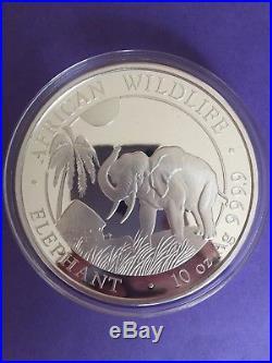 2017 10oz Somali Silver Elephant