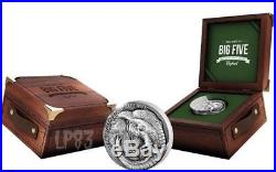 2017 5 Oz Silver 5000 Francs ELEPHANT BIG FIVE MAUQUOY Coin, Ivory Coast
