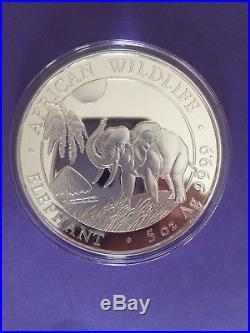 2017 5oz Somali Silver Elephant