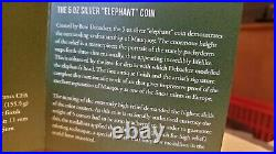 2017 Big Five Elephant 5 Oz High Relief Silver Coin Ivory Coast Very Rare