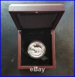 2017 Somali Republic High Relief Proof Silver Elephant 1 Oz Coin Somalia OGP COA