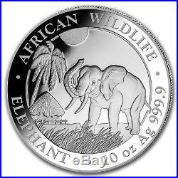 2017 Somalia 10 oz Silver Elephant BU SKU #102912