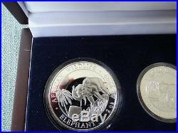 2017 Somalia 4-Coin 3.75 oz Silver Prestige Elephant Set nr 149/2000