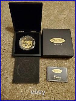 2017 Somalia 500 Shillings Elephant Ruthenium Golden Enigma 5oz. 999 Silver Coin