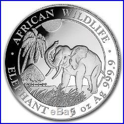 2017 Somalia 5 oz Silver Elephant BU SKU #102911