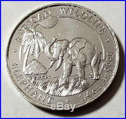 2017 Somalia Elephant 25 Schilling 1/4 Oz. Silver Bank Roll 25 Ct. Prooflike