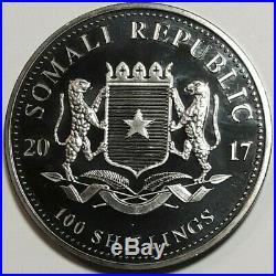 2017 Somalia Elephant. 9999 Silver Gold Gilded Ruthenium Low Mintage #b (dr)