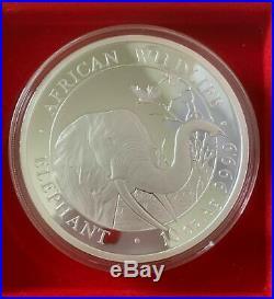 2018 10oz Somalia 1000 Shillings Elephant 10 oncia argento Silver in Capsule