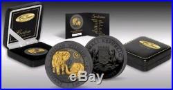 2018 1 Oz Silver 100 Shillings SOMALIAN ELEPHANT, 15 Anniv. Golden Enigma Coin