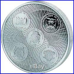2018 3 Oz Silver 1500 Francs Niger Congo Benin Ivory AFRICA UNITED ELEPHANT Coin