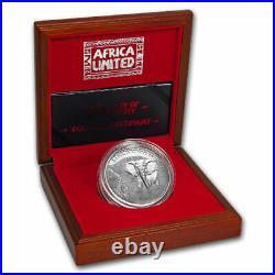 2018 Africa 3 oz Silver 6 x 1,500 Francs Africa United Elephant Silver Coin