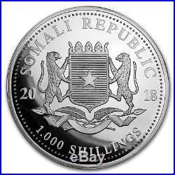 2018 Somalia 10 oz Silver Elephant BU SKU#154020