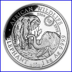 2018 Somalia 1 kilo Silver Elephant 15th Anniversary Jubilee BU SKU#167213