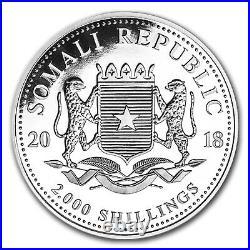 2018 Somalia 1 kilo Silver Elephant SKU#153994