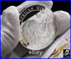 2018 Somalia 200 Shillings Somali Republic Elephant 2 oz. 9999 Silver BU