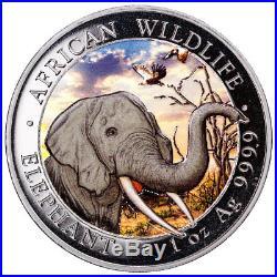 2018 Somalia African Wildlife Day/Night Elephant 2-Coin Set 1 oz Silver SKU52523