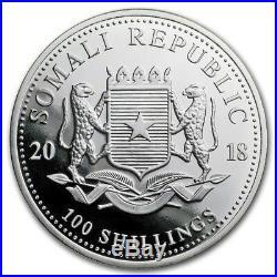 2018 Somalia Elephant 15th Ann. Jubilee 1 oz. 9999 Silver MS-70 PCGS FS BU Coin