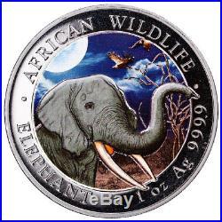 2018 Somalia Silver 100 Shillings Elephant MS70 NGC 2-Coin Set LABEL ERROR
