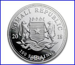 2018 Somalian Elephant 15th Anniversary Jubilee 1 oz Silver Coin (5 coins)