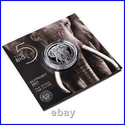 2019 1 Oz Silver Big Five, African Elephant, South Africa