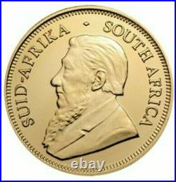 2019 1 Oz Silver South Africa Big Five VOLTAIC ELEPHANT KRUGERRAND Coin, 24K GOLD