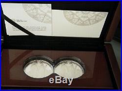 2019 1 oz S. Africa Mint Big-5 Elephant. 999 Silver Proof 2 Coin Set (1000 Sets)