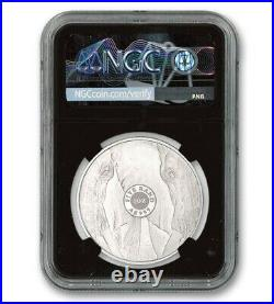 2019 Big 5 Elephant 1oz Silver Proof South Africa NGC PF70 Signed by Tumi Tsehlo