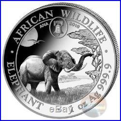2019 Elephant Exclusive Philadelphia Ana Privy- 1 Oz Silver Coin Somalia