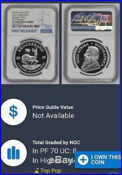 2019 Proof Krugerrand WithElephant Privy & Proof Big5 Elephant 2 Coin Set PF70 UC
