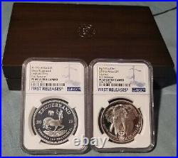 2019 SOUTH AFRICA KRUGERRAND/BIG5 Elephant PF69 UC FIRST RELEASES 2 COIN SET