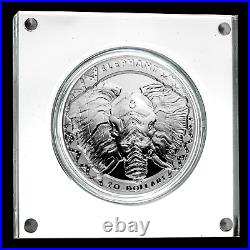 2019 Sierra Leone Silver 2 oz £20 High Relief Big Five Elephant SKU#188687