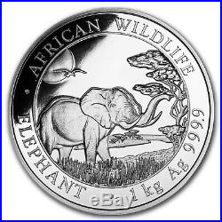 2019 Somalia 1 kilo Silver Elephant SKU#170448