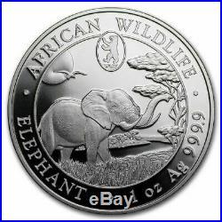 2019 Somalia 1 oz Silver Elephant Coin (Berlin WMF Privy Mark)