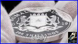 2019 Somalia 200 Shillings Somali Republic Elephant 2 oz. 9999 Silver BU