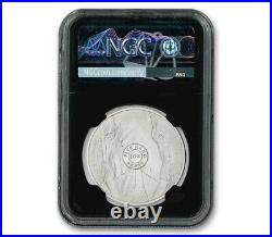 2019 South Africa Big 5 Elephant 1 oz Silver NGC MS70 First Day of Issue
