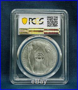 2019 South Africa Big Five Elephant 5 Rand One Oz. Silver B. U. Pcgsms70
