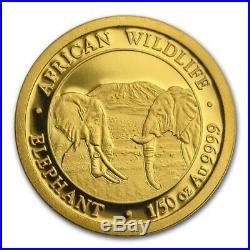 2020 1/50 oz Somalia Gold Elephant Coin (BU)