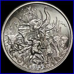 2020 Intaglio Mint Molon Labe IV Elephant Attack 2 oz. 999 Silver Round NEW