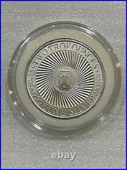 2020 Intaglio Mint Molon Labe IV Elephant Attack 2 oz. 999 Silver Round with cap