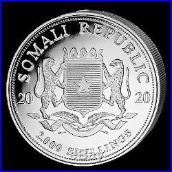 2020 Somalia 1 kilo Silver Elephant SKU#197579