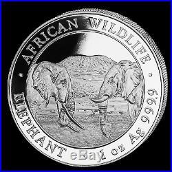 2020 Somalia 1 oz Silver Elephant (20-Coin MintDirect Tube) SKU#195898