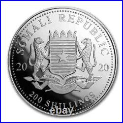 2020 Somalia 2 oz Silver Elephant BU SKU#200141