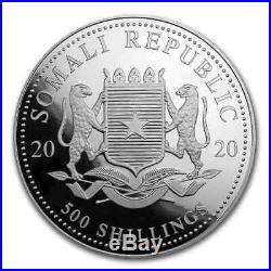 2020 Somalia 5 oz Silver Elephant BU SKU#200139