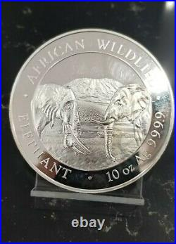 2020 Somalia Silver 1000 Shillings African Wildlife Elephants 10 oz. 9999