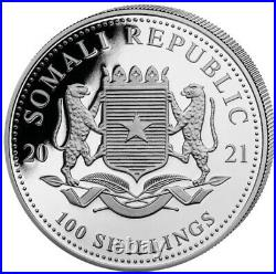 2021 ELEPHANT Day & Night set 2 Coin 1 oz Silver Color Coin Somalia
