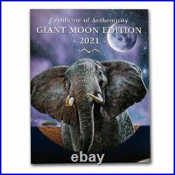 2021 Somalia 1 kilo Silver Elephant (Giant Moon) SKU#225193